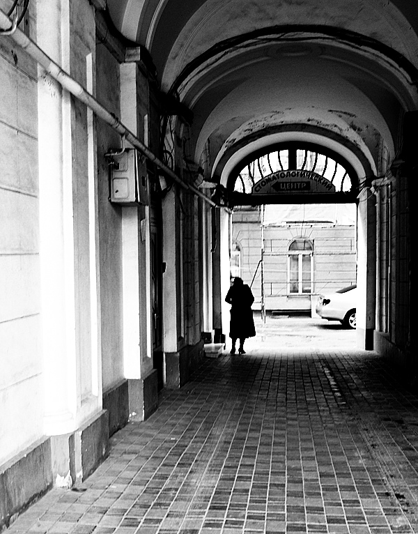 Mysterious lady under the arches