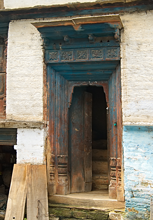 Door to an old house