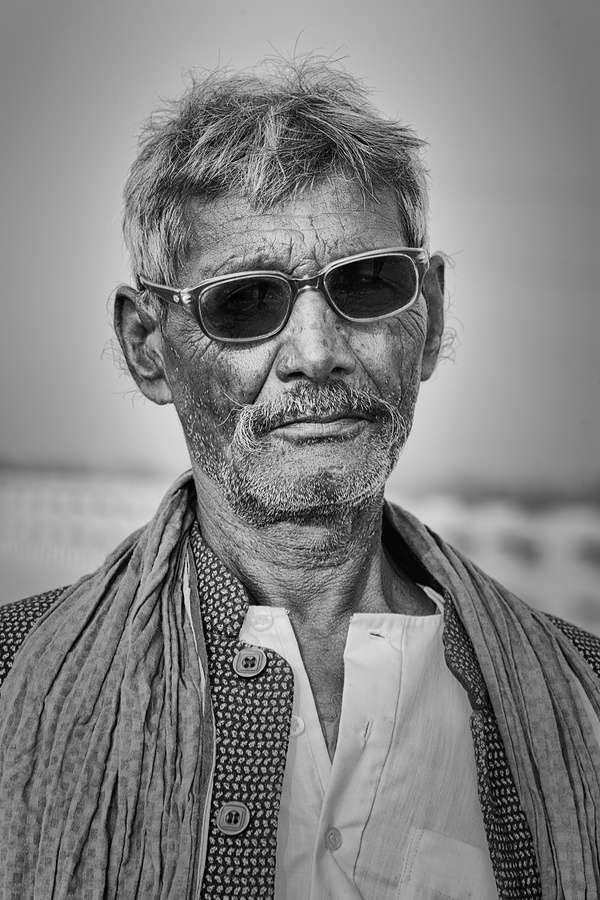 Villager with Shades