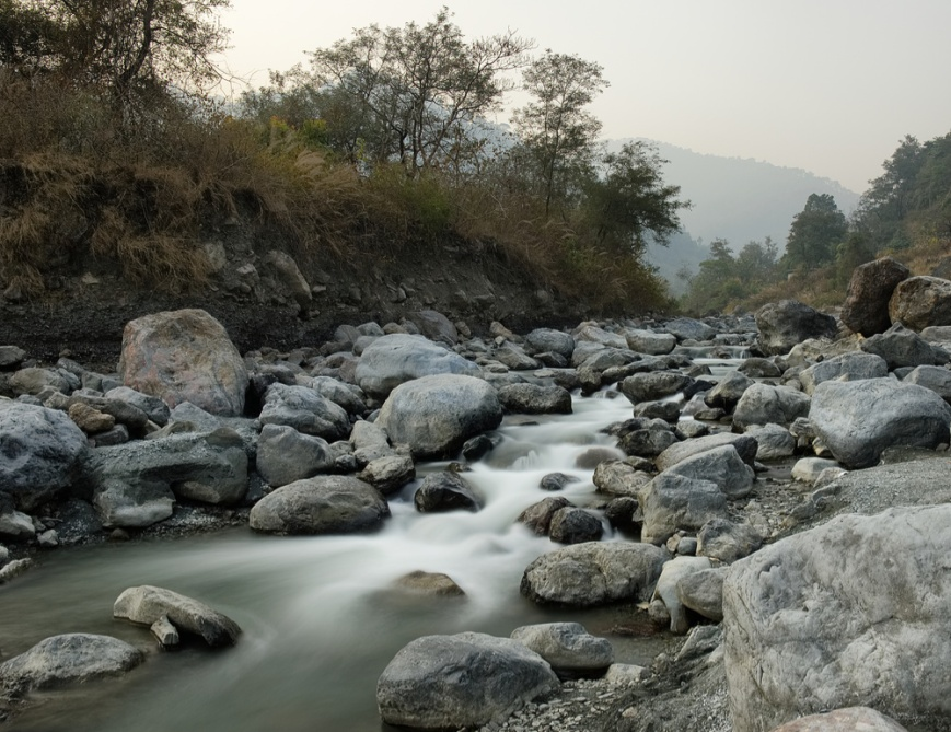 Stream on rocks