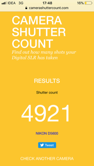 Screenshot Shutter Count