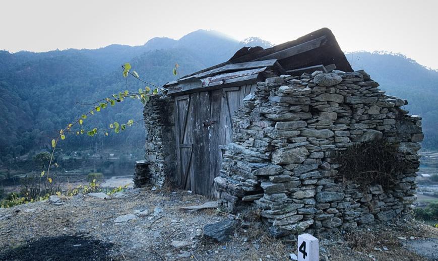 Stone broken house