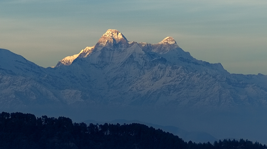 Last rays of sunlight on NandaDevi