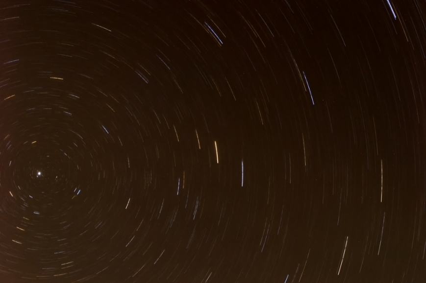 Star Trails around North Star
