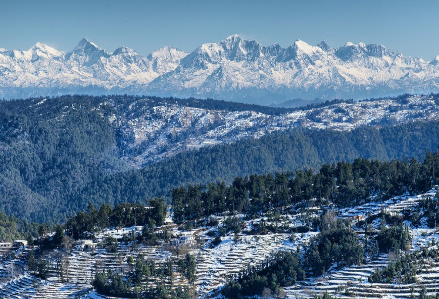 Himalayan peaks after snow-fall