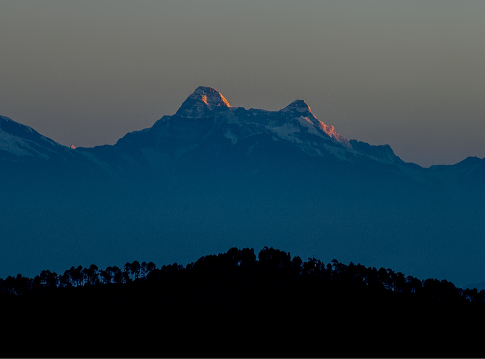 First light on Trishul Peak