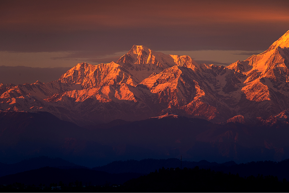Nanda Ghunti in Alpenglow