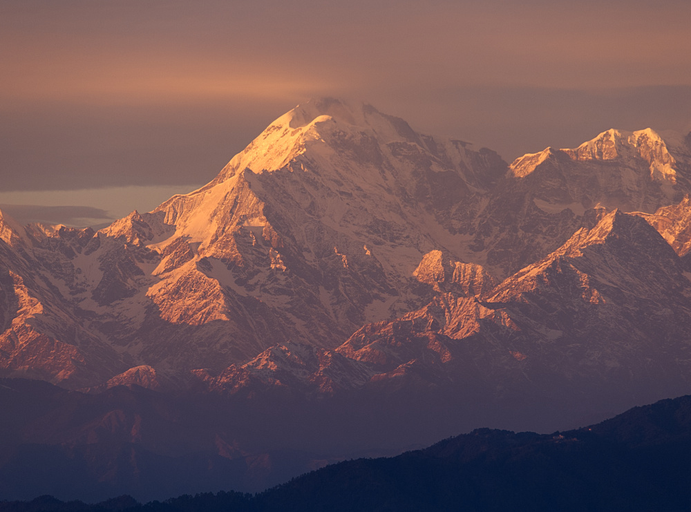 Trishul Peak in Orange Light