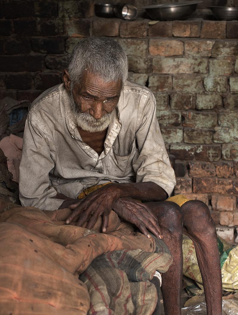Photograph of a sad man